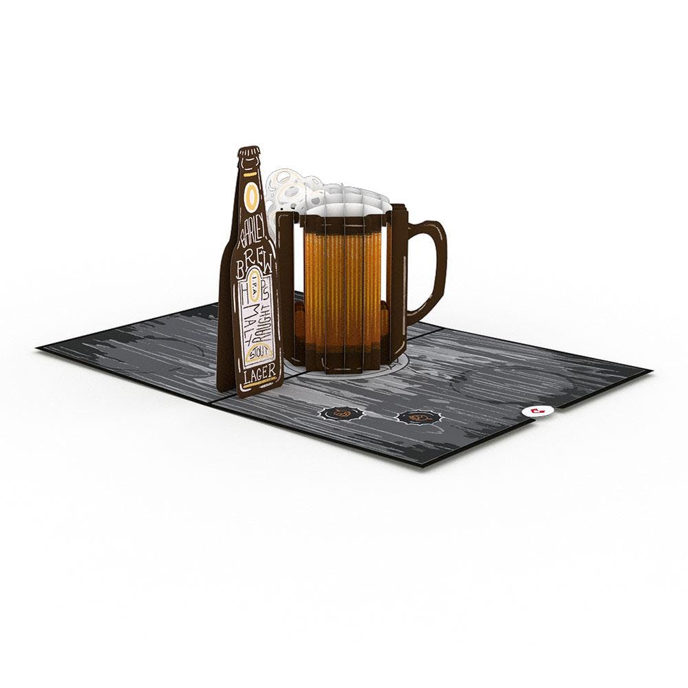 Bier, Pop-Up Karte
